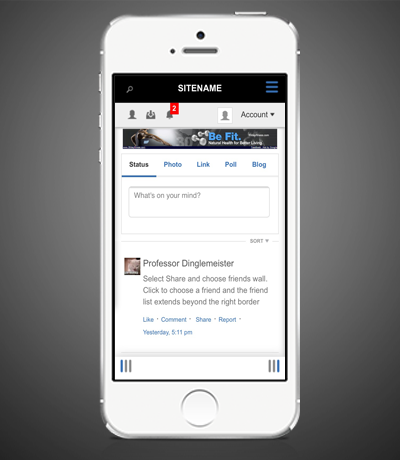 Mobile-friendly Social Network Design