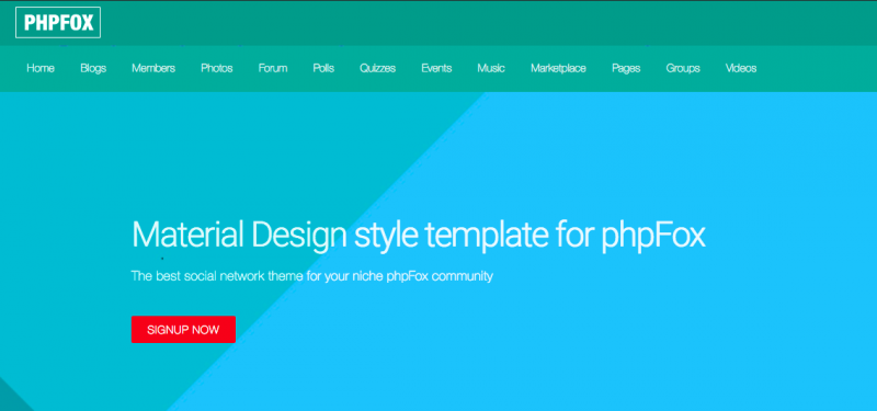 Material Design style theme
