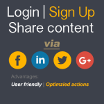 Login, sign up, share via Social Account