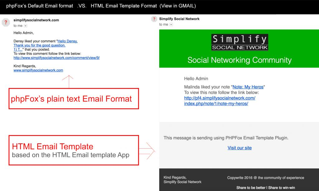 html email template phpfox store